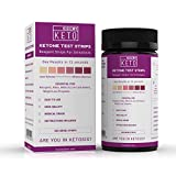 Kiss My Keto Test Strips - Ketone Urine Strips, 200 Count, Ideal for Ketogenic, Atkins, Low Carb, Paleo Diets, Urinalysis Test Kit, Detailed Instructions, Accurate Color Chart For Measuring Ketones