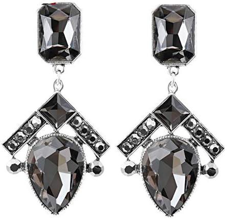 Pendientes grandes de lujo para las mujeres joyería bohemia plata antigua color geométrico cristal cristal gotas pendientes regalo de Navidad