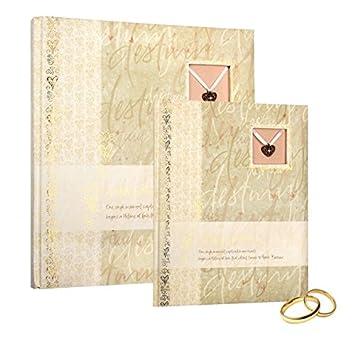 Sonstige Gästebuch Hochzeitsbuch Puzzle 23x25 Cm Leinen Weiß Ausschnitt Hochzeit