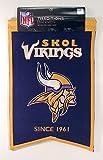 NFL Minnesota Vikings Franchise Banner, Purple, Small
