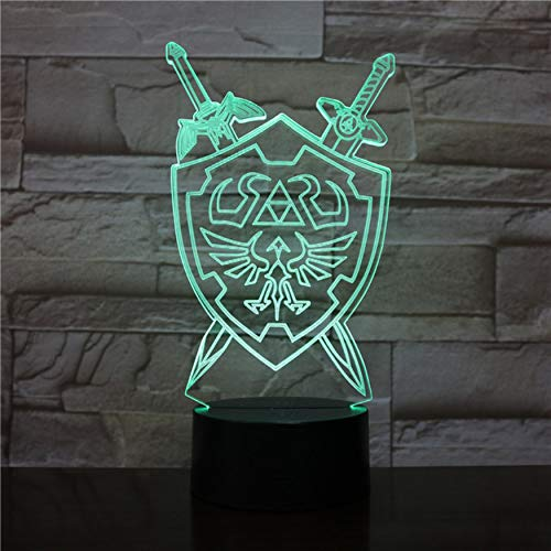 (3D Night Lights The Legend of Zelda Table Lamp Anime Game Breath of The Wild Visual Illusion 3D Led Luces Navidad)