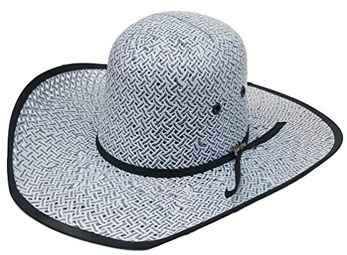 Modestone Traditional Bangora Rodeo Straw Cowboy Hat ''Sizes for Small Heads'' Blue by Modestone (Image #1)