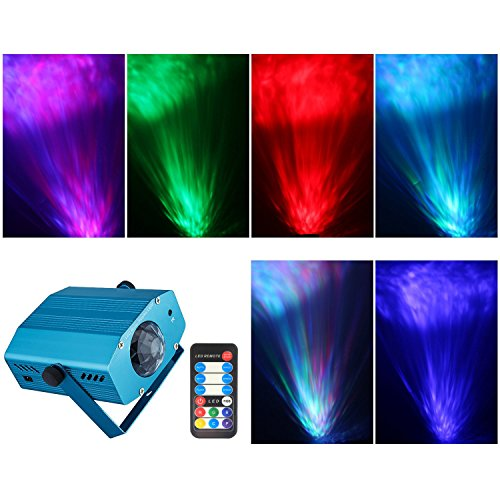 spriak projector strobe light disco dj party stage halloween christmas lighting ocean moving stage lights with remote controlblue - Strobe Christmas Lights