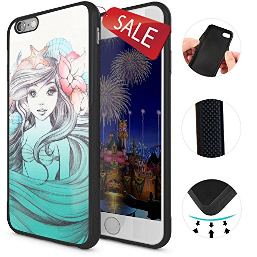 Onelee - Customized The Little Mermaid TPU Case Cover for Apple iPhone 6 - Black 07