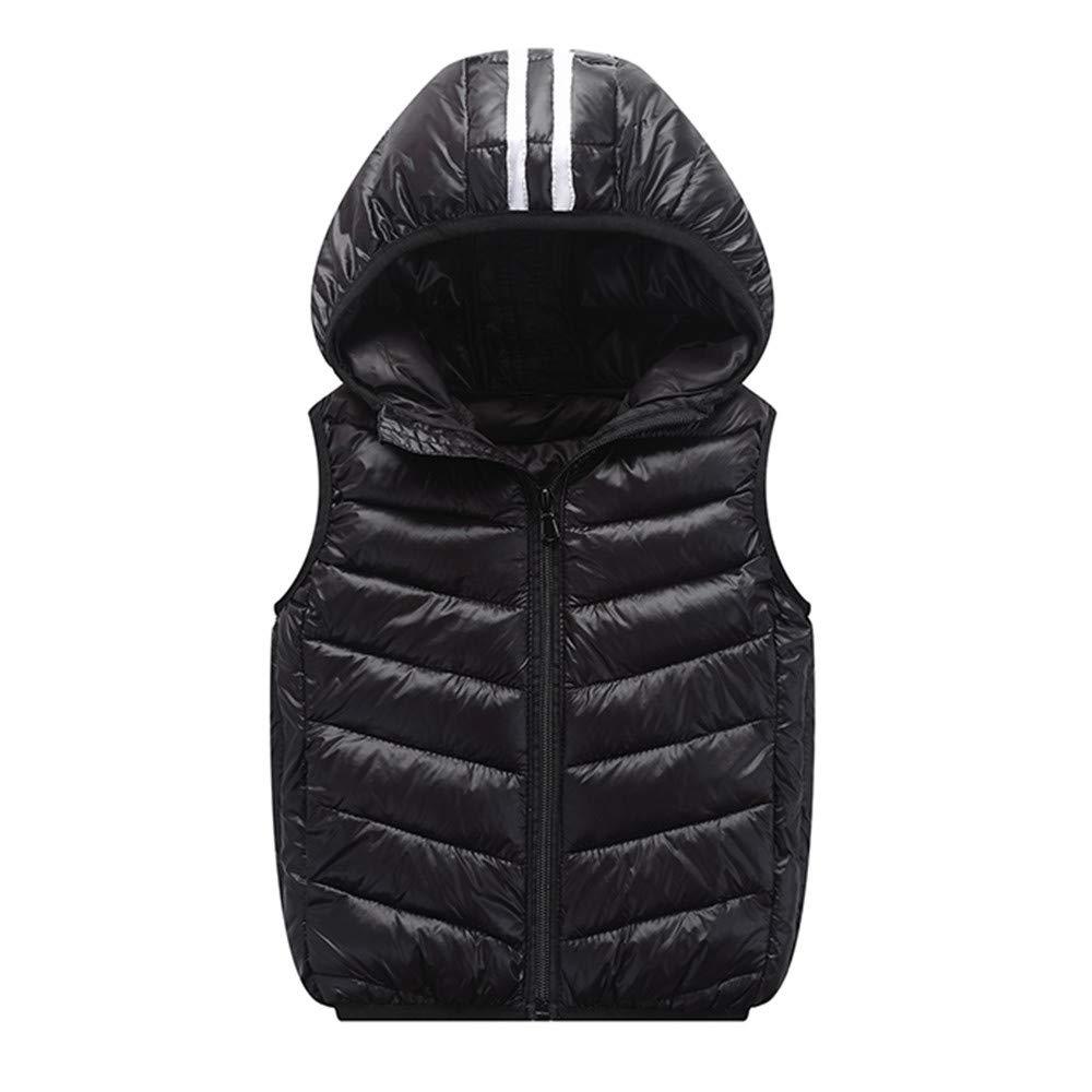 Zerototens Kids Winter Waistcoat,1-7 Years Old Toddler Baby Girl Boy Sleeveless Vest Blouse Tops Autumn Winter Windproof Lightweight Padded Down Zipper Jacket