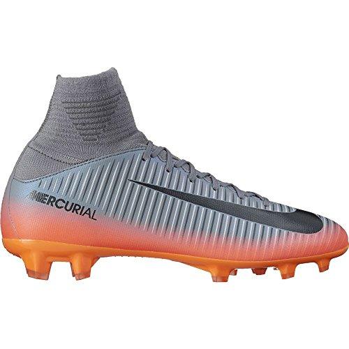 Nike Kids Mercurial Superfly V Cr7 Fg Cool Grey/Metalic Hematite/Wolf Grey Soccer Shoes - 5Y