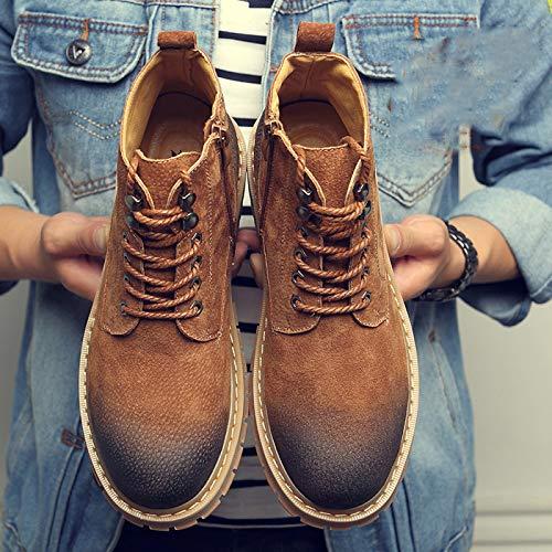 Cotone Classici Pelle E di Boots in Stivali Adulti Doc Velluto in Pelle Classica Marten Yellow Stivali Alto Taglio con Stivali Uomo per Stivali gx1wf8q0