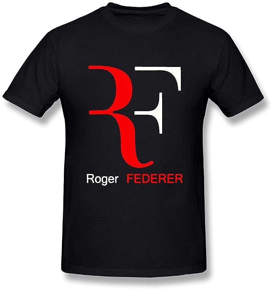 fdghjdyjdty Mens T-Shirt-Funny Roger Federer Black L: Amazon.es ...