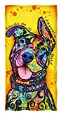 Dawhud Direct Dean Russo Cotton Beach Towel (Rescues Are My Favorite Breed)