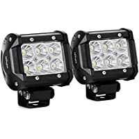 "Nilight Led Light Bar 2PCS 18w 4"" Flood Driving Fog Light Off Road Lights"