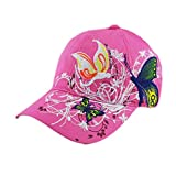 BCDshop Butterfly Flower Baseball Cap Women Lady Duck Tongue Hat Anti Sai Cap (Pink)