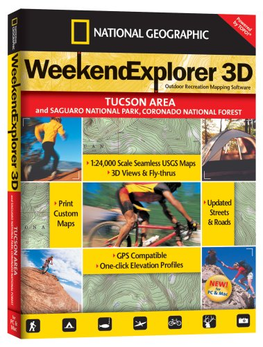 TOPO! Weekend Explorer 3D Outdoor Recreation Mapping Software (Tucson Area)