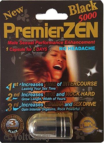 Premierzen Black 5000 Male Sexual Enhancement Pill  1 Pill Fpr 7 Days
