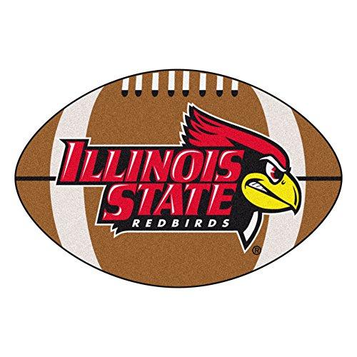 (FANMATS NCAA Illinois State University Redbirds Nylon Face Football Rug)