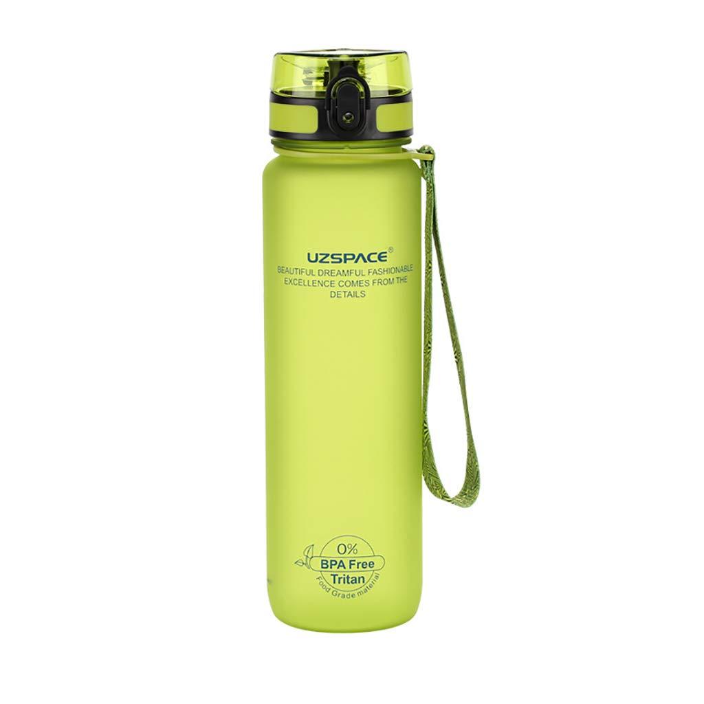 JY Sportflasche Griff Tasse Portable Kunststoff Große Kapazität Outdoor-Reisen Fitness Wasserflasche 1 Liter