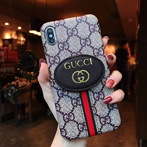 Phone Case for iPhone Xs MAX, Classic Monogram Vintage Style Elegant Luxury Fashion Designer Shockproof Durable Case with Card Holder Case Cover iPhone Xs MAX