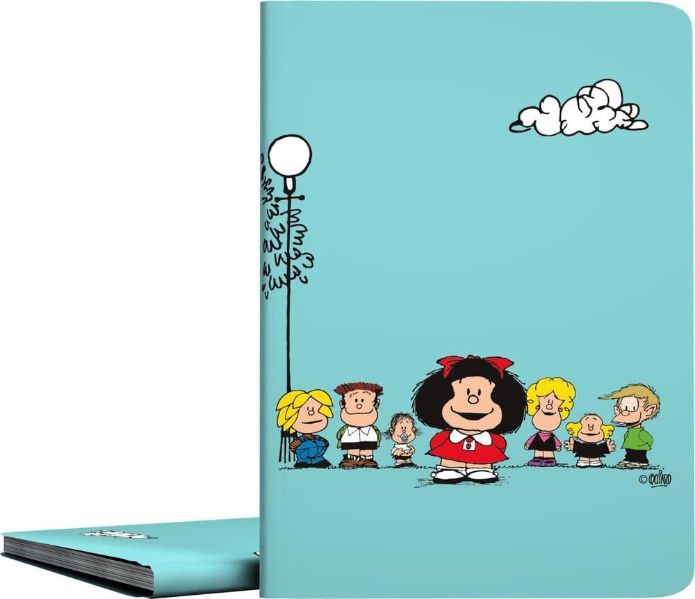 Grafoplás 01332147-Carpeta de fundas A4 soldadas, Diseño Mafalda Amigos, 30 fundas transparentes Grafoplas