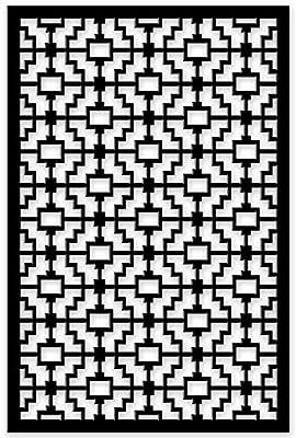 Acurio 4832ID-1-BK-FRT Lattice Fret Panel Screen as Trellis, Patio & Outdoor Decor, Black