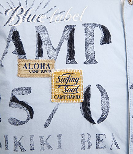 Uomo David Summer Camicia Casual Blue Camp atx0g87