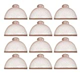 Dreamlover 12 Pack Brown Mesh Net Wig Caps, Fishnet Nylon Open End Elastic Wig Cap for Short and Mid-length Hair