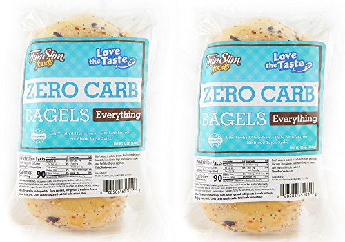 ThinSlim Foods Love-The-Taste Low Carb Bagels, 2pack (Everything)