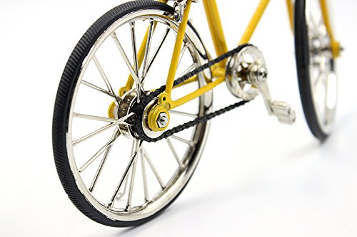 T.Y.S Racing Bike Model Alloy Simulated Road Bicycle Model Decoration Gift, Christmas Brithday Gifts for Dad, Boy and Cyclist, Yellow by T.Y.S (Image #5)