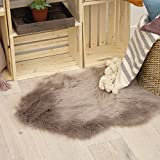 Jean Pierre Faux-Fur 22 X 60 in. Runner Area Rug, Taupe Grey