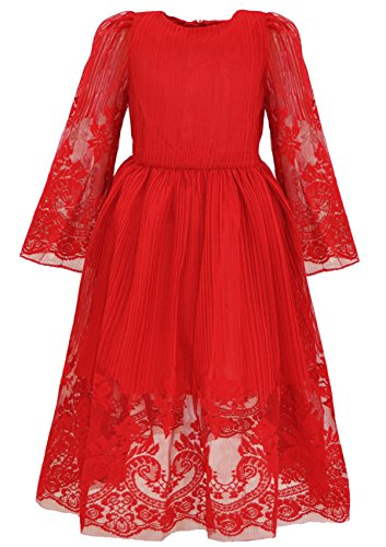 Bonny Billy Girl's Classy Embroidery Lace Maxi Flower