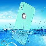 [Green] Waterproof Case Compatible iPhone X, Snake90 Phone Case Underwater Protect IP68 Waterproof for Swimming Boating Surfing Skiing, Multi-Functions Snowproof Shockproof Dustproof