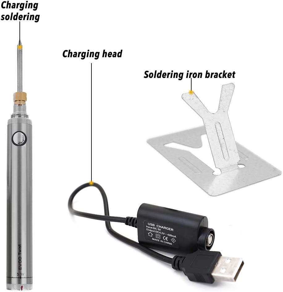 Baugger Soldering Iron Wireless Charging with USB Welding Tools Mini Portable Battery Soldering Iron