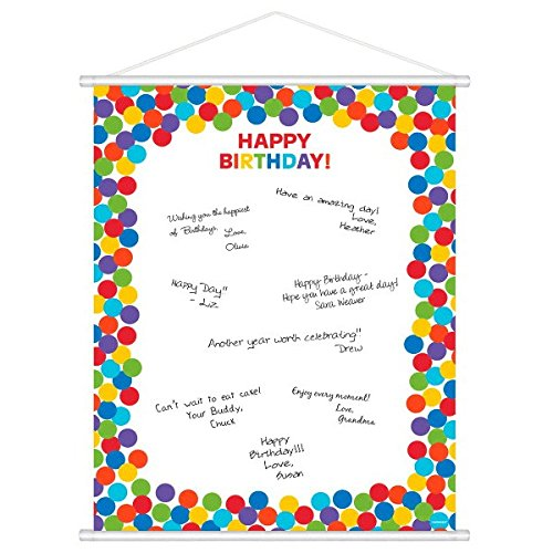 Customizable Scroll Sign-In Sheet | Rainbow Collection | Birthday (Scroll Birthday)