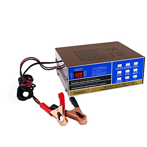 Full Automatic Car Battery Charger 12V/24V 10Amp Intelligent Pulse Repair Battery Charger Truck Motorcycle Charger