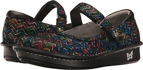 Alegria Womens Belle Mary Jane Shoe RIC Rack Rainbow Size 35 EU (5-5.5 M US Women) - Foot Rack
