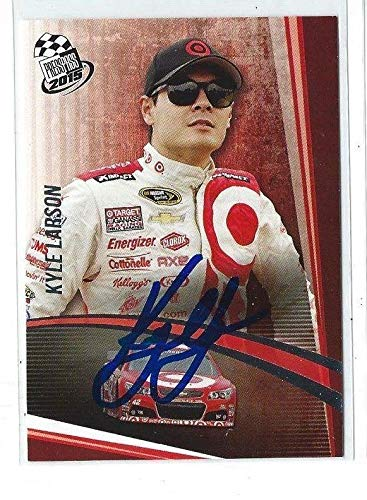Kyle Larson Signed 2015 Press Pass NASCAR Card #22 NFL Cut Signatures