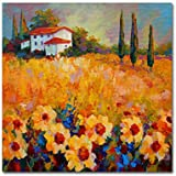 Tuscan Sunflowers by Marion Rose, 18x18-Inch Canvas Wall Art