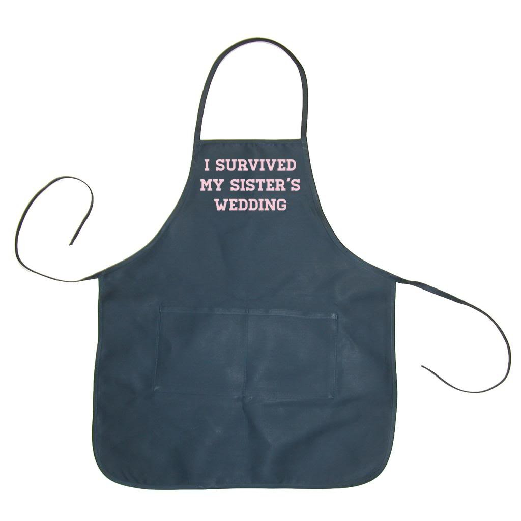 Two In Love! I Survived My Sister's Wedding Unisex Chef Apron (Navy, One Size)