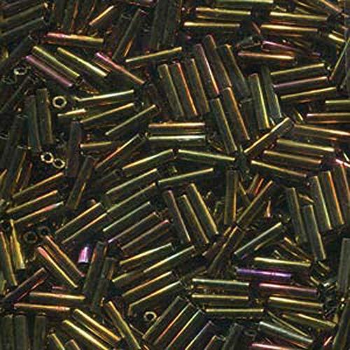 Miyuki Slender Bugle 1.3x6mm Gold Violet Metallic 13 Gram Retail Pack ()