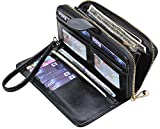 Yeeasy Womens Wallets Ladies Long Zipper PU Leather Clutch Purse Card Holder