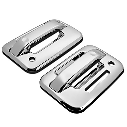 (MaxMate Fits 04-13 Ford F150 Not for Heritage Chrome 2 Doors Handle Cover W/O Passenger Side Keyhole With Key Pad)