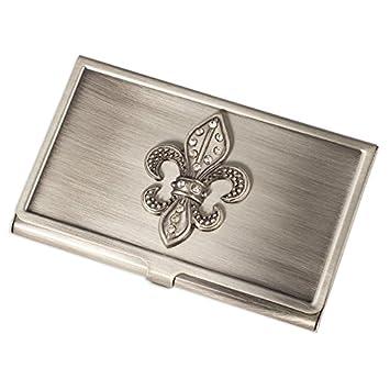 Amazon fei gifts fleur de lis business card holder home kitchen fei gifts fleur de lis business card holder colourmoves