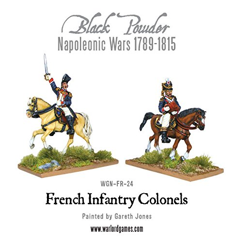 Black Powder, Napoleonic Wars, Mounted French Colonels, 28mm Warlord games miniatures