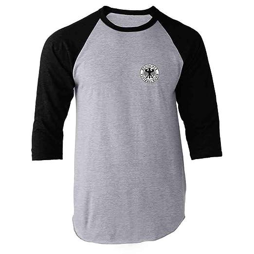 Germany Soccer Futbol Retro Vintage National Team Black S Raglan Baseball Tee  Shirt 5eaaa5b4e