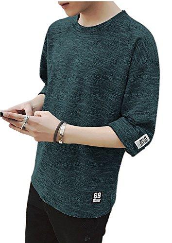 空虚バッテリーパーティーEyard メンズ カットソー ファッション 五分袖 Tシャツ 夏季対応 トップス