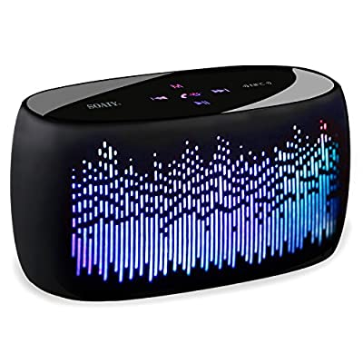 SOAIY S52 LED Changing Color Portable Bluetooth Speaker,10 LED Visual Light Modes,Super Bass,Loud Volume,Long Battery Life,Micro-SD Card Slot and Built-in MIC,Sensitive Touch
