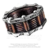 Hi-voltage Toric Power Generator Steampunk Pewter Ring By Alchemy Gothic Size 11