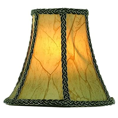 Upgradelights Chandelier Shade 8 Inch Lamp Shade in Aged European Parchment