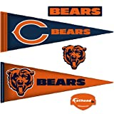 NFL Chicago Bears Junior Logo Pennants Wall Graphic
