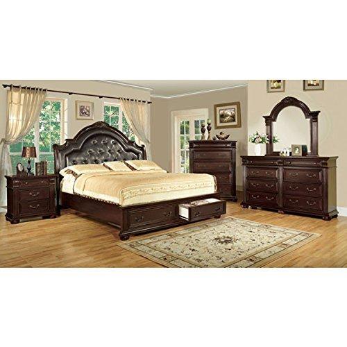 24/7 Shop at Home 247SHOPATHOME IDF-7162CK-6PC Bedroom-Furniture-Sets, California King, Cherry