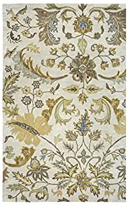 Rizzy Home VO1607 Volare 9-Feet by 12-Feet Area Rug, Beige