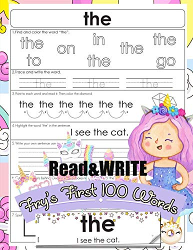 Read and Write Fry's First 100 Words: With 100 Sight Word Mini Books Write ...